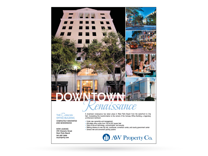 AW Property Co. print advertisement sample